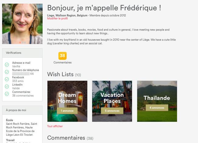 Profil Airbnb