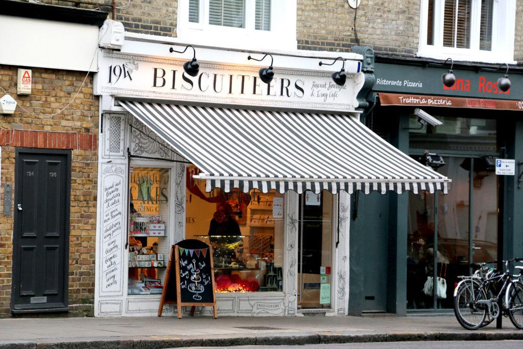 Façade de Biscuiteers à Notthing Hill Londres