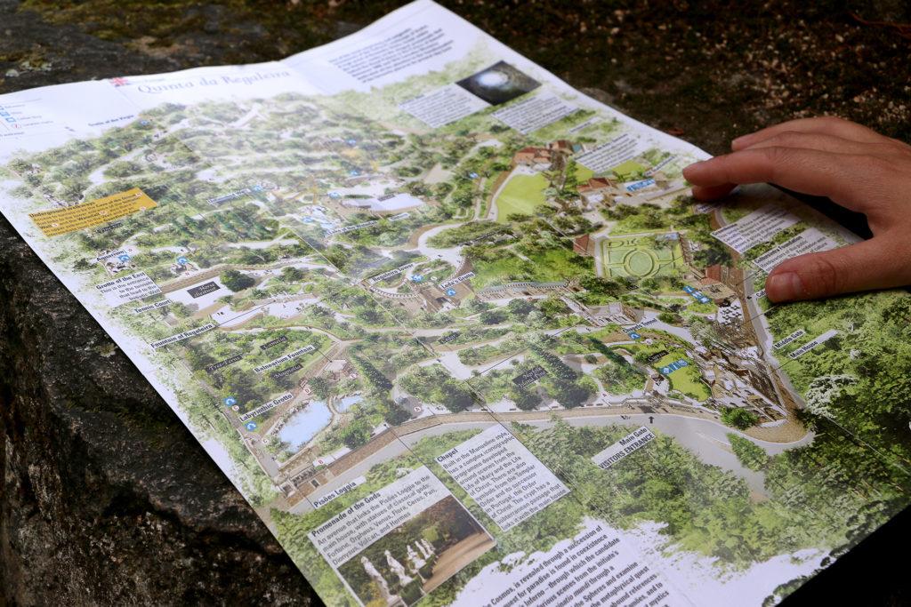 Carte du domaine de Quinta da Regaleira à Sintra