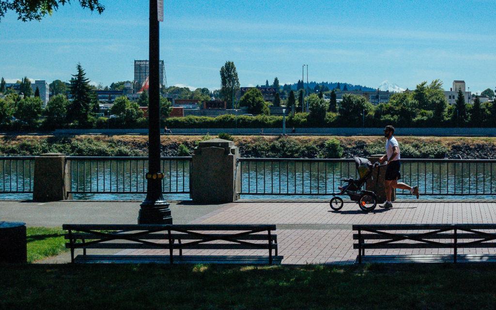 Jogging in Portland