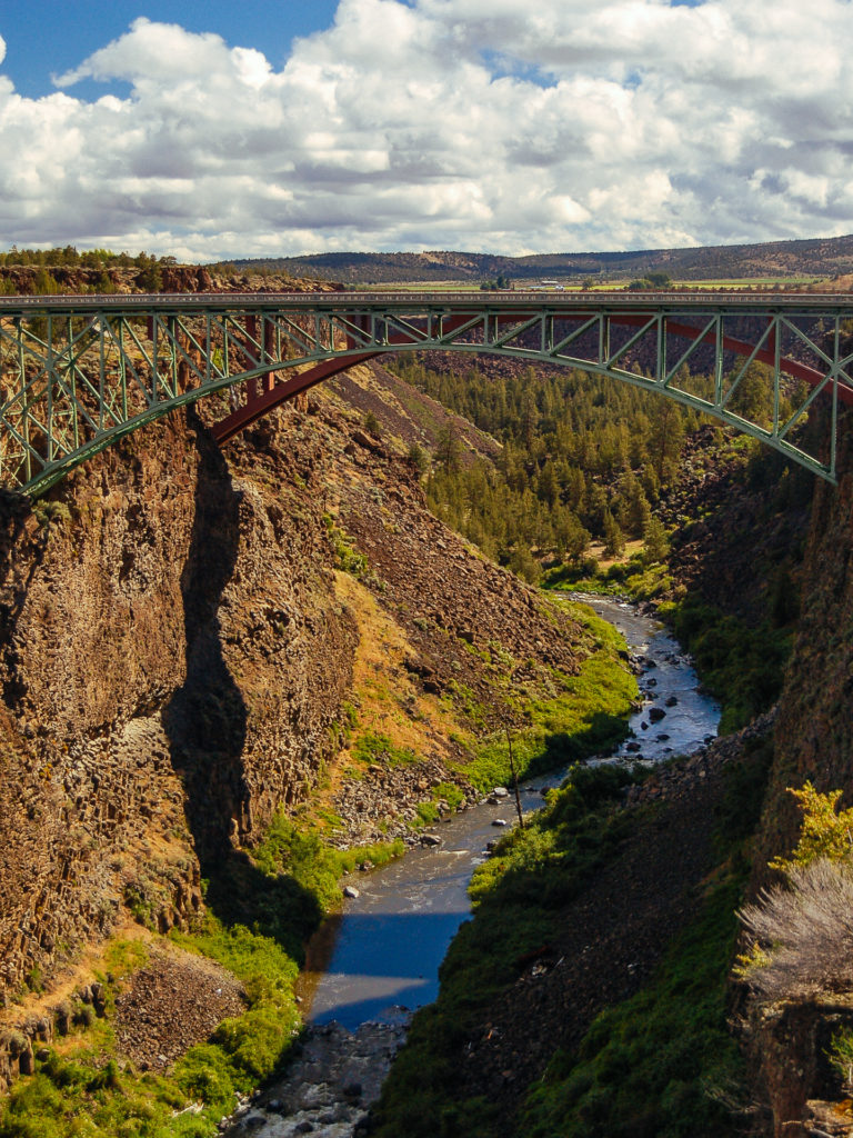 Canyon and bridge in Oregon