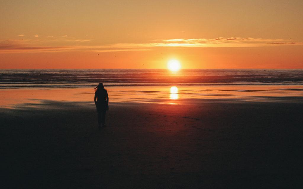 Sunset over Seaside
