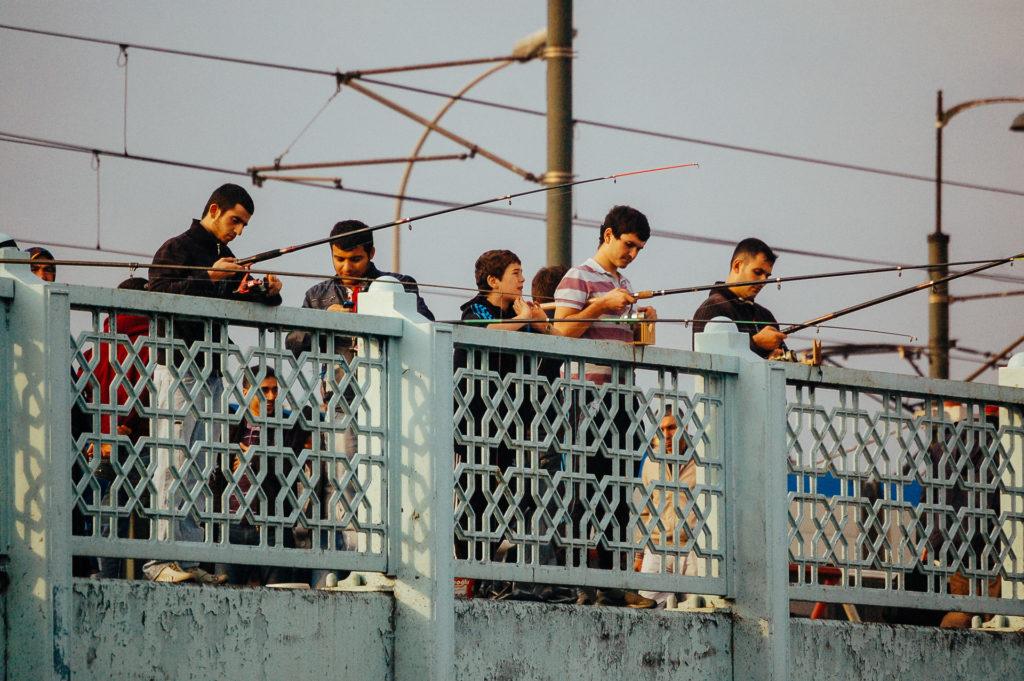 Pêcheurs Pont Galata, Istanbul