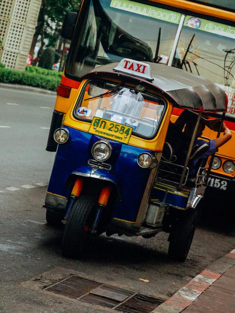 Tuktuk driver resting in Bangkok