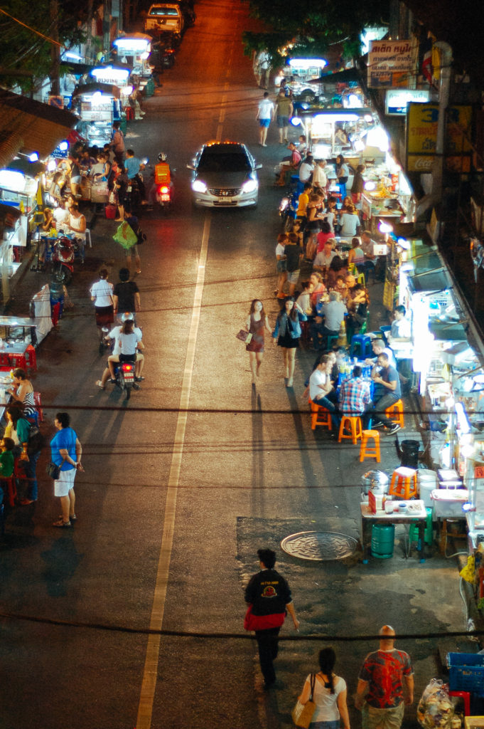 Street food in a night market, Bangkok