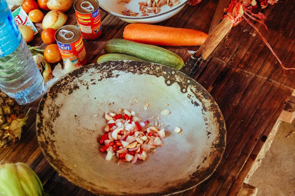 Base de l'assaisonnement d'un plat thai