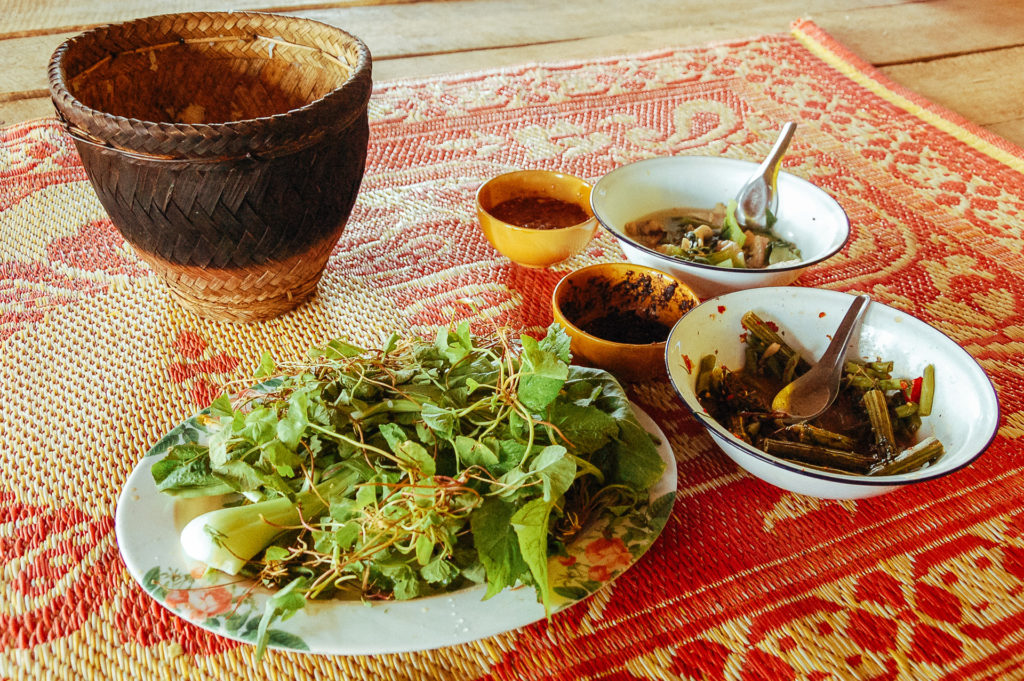 Vegetarian meal, North Thailand