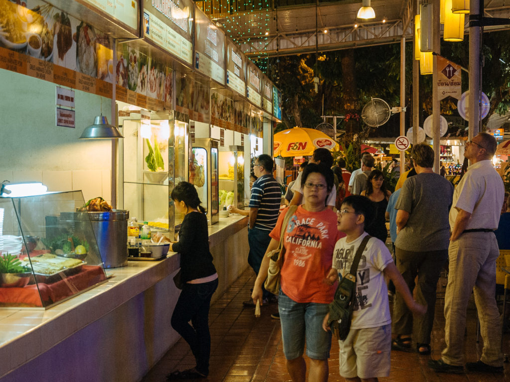 Food shops in Chiang Mai Night Market