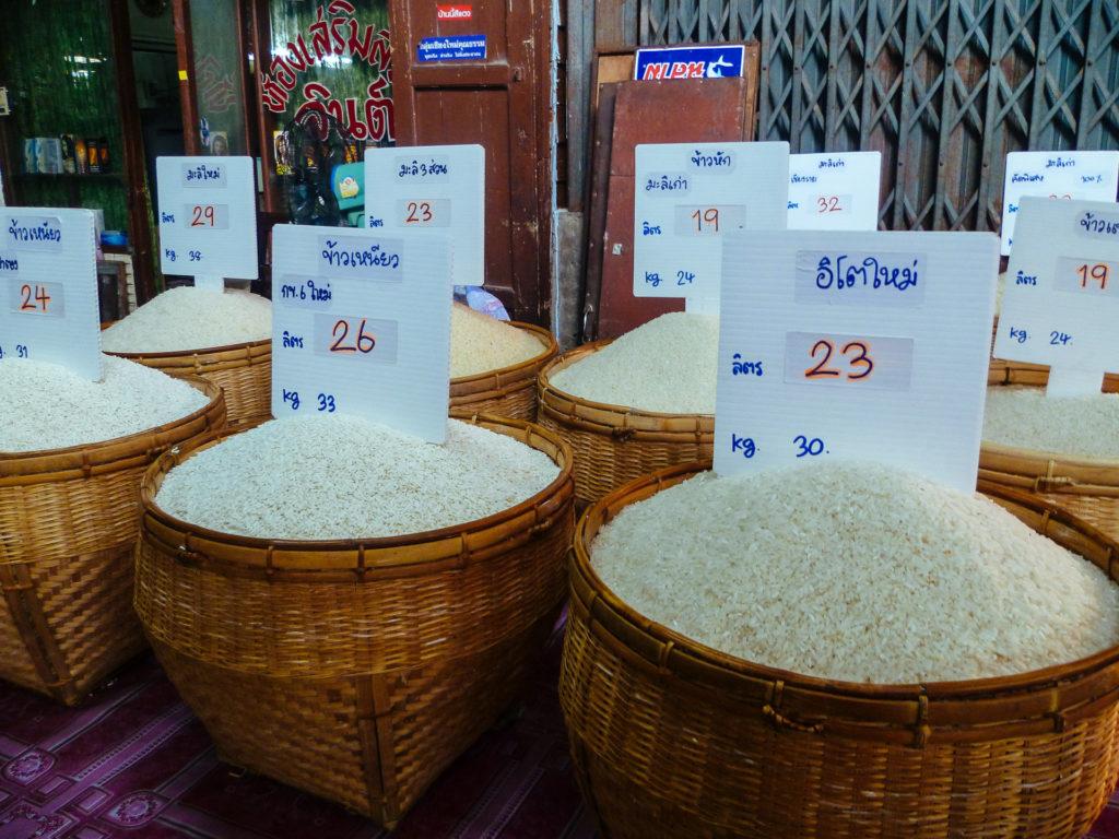 Différentes sortes de riz, Thailande