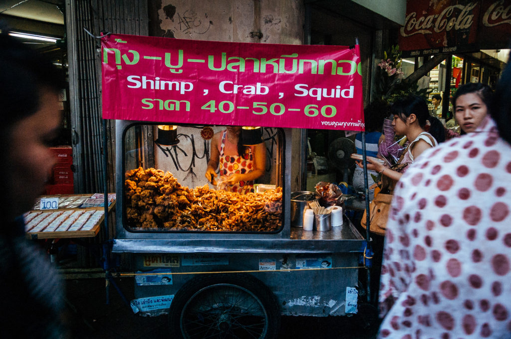 Sea food stall in the streets of Bangkok