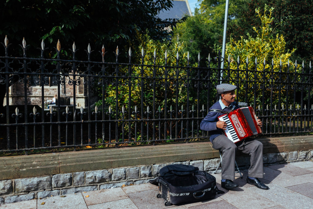 Worst accordion busker ever