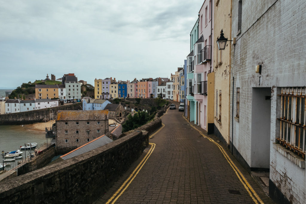 Colorful houses of Tenby
