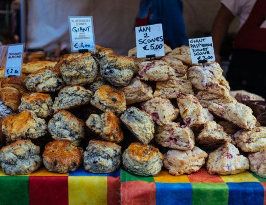 Scones on a market, Dublin