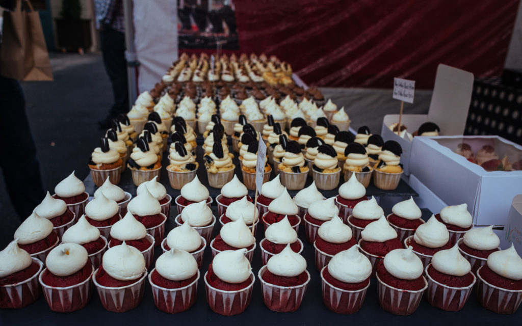 Cupcakes on a market in Howth
