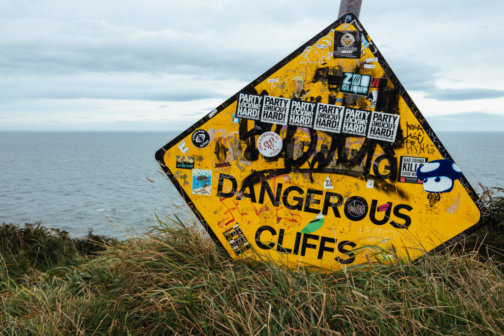 Dangerous cliffs, Howth