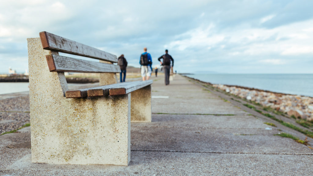 Bench on the pier, Howth