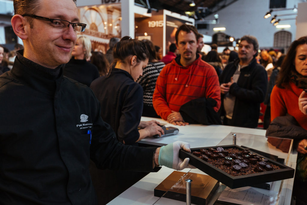 Stand de Pierre Marcolini, Salon du Chocolat, Bruxelles