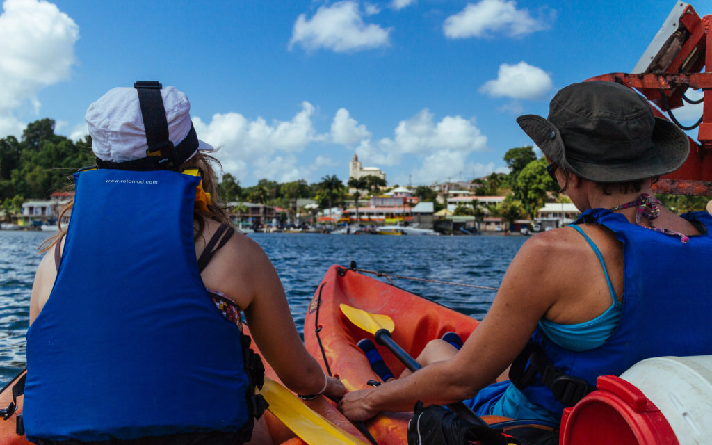 Kayak de mer, Guadeloupe