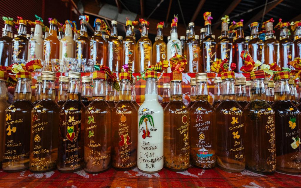 Différentes sortes de punchs, Guadeloupe