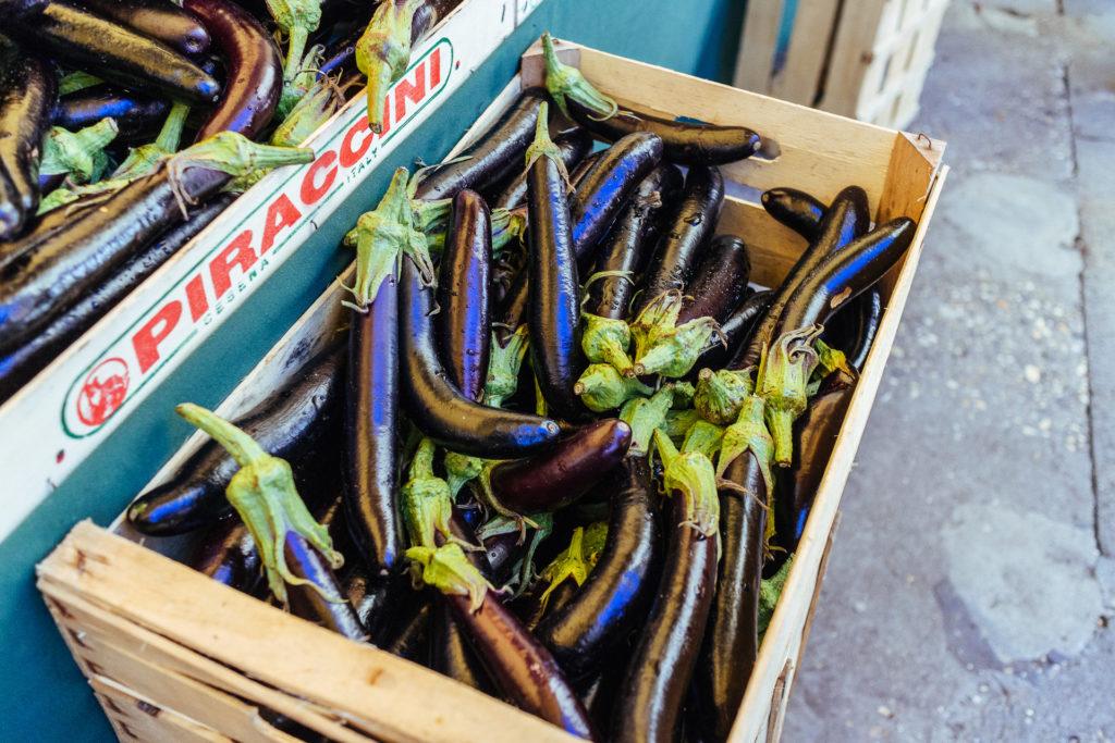 Aubergines sur les marchés du Rialto, Venise