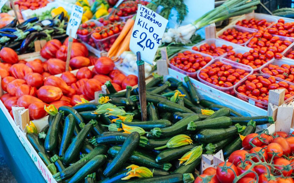 Fruits et légumes sur les marchés du Rialto, Venise