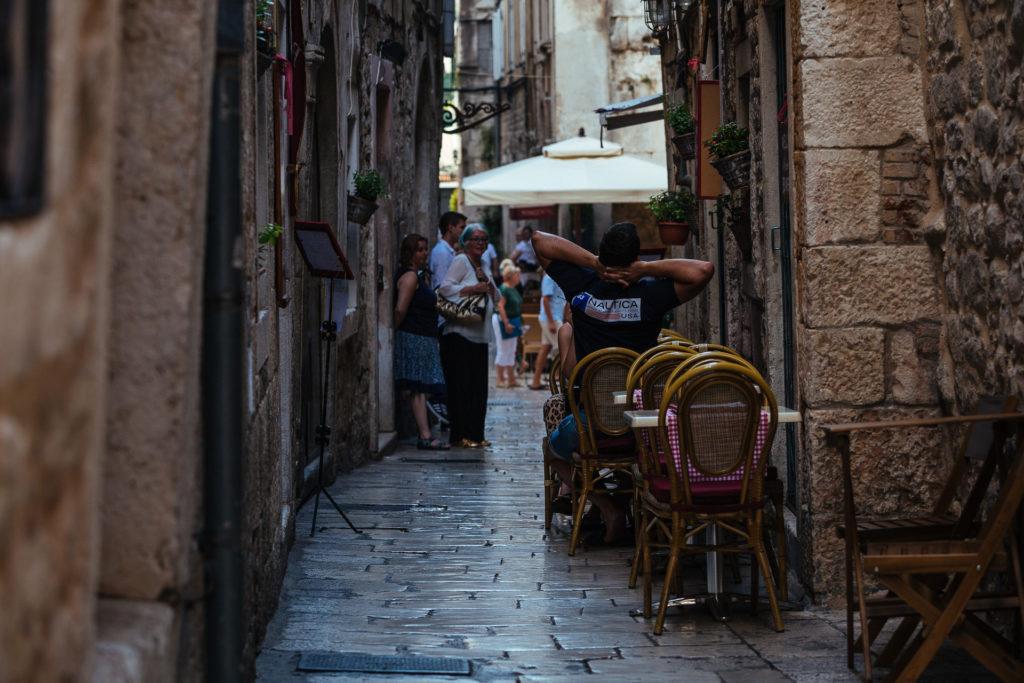 Street restaurant in Split