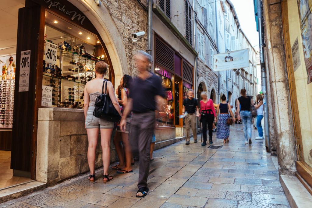 Shopping streets, Split