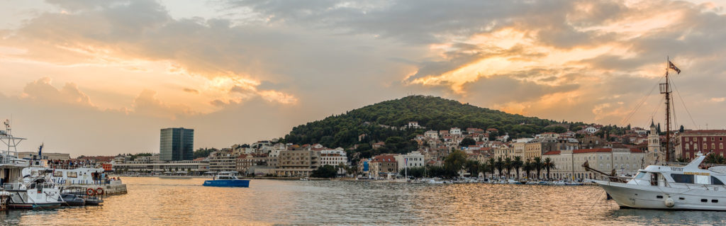 Golden hour in Split