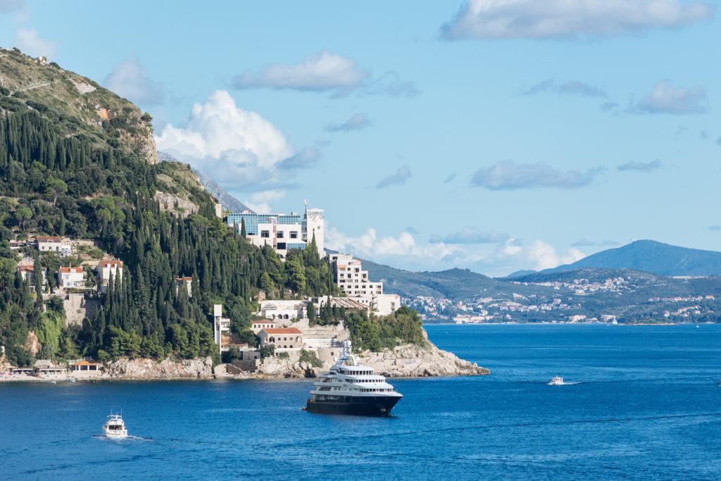 Bateaux dans la baie de Dubrovnik