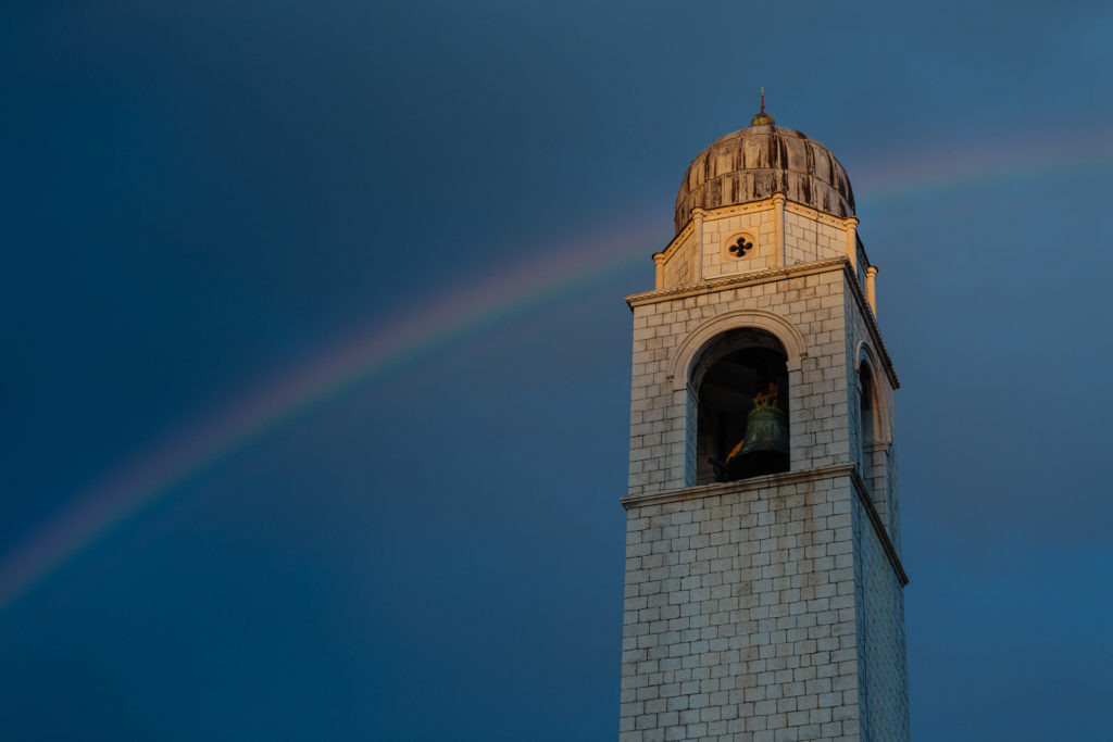 Dubrovnik Bell Tower Rainbow
