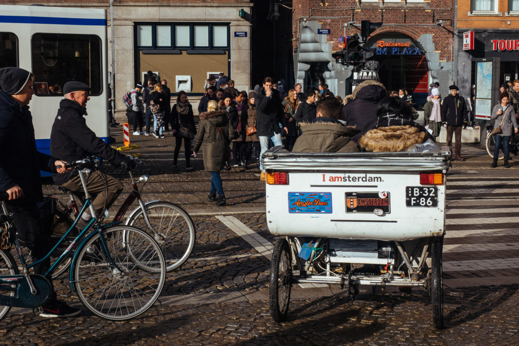Vélo taxi dans Amsterdam