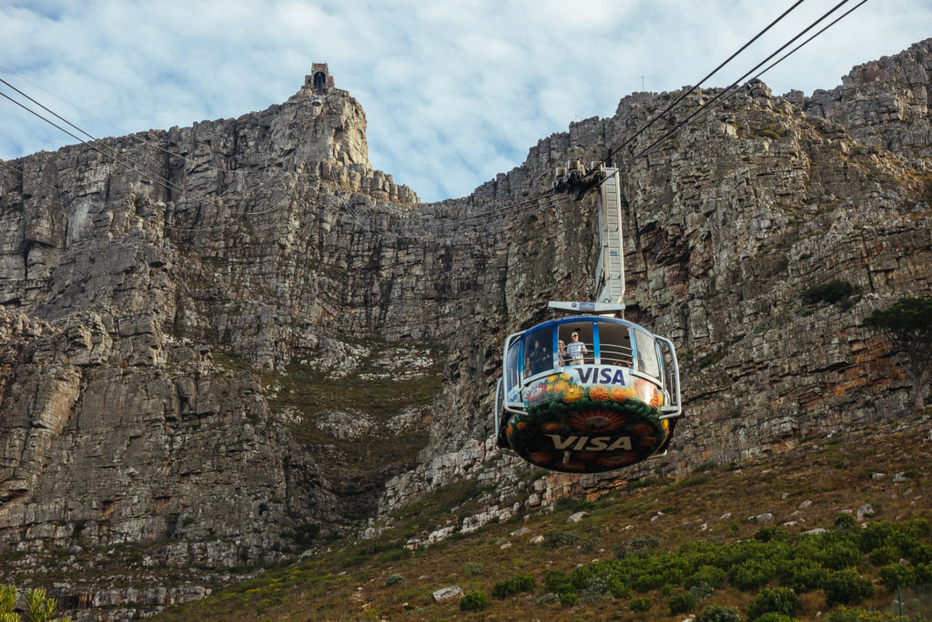 Cableway to get to Table Mountain and back
