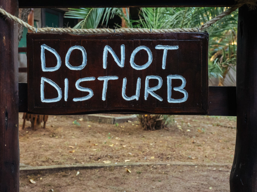 Do not disturb, Falaza Game Park, South Africa