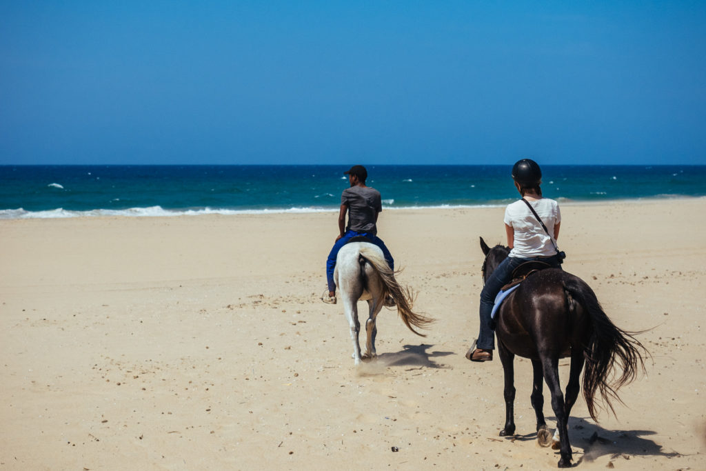 Horseriding on the beach, South Africa