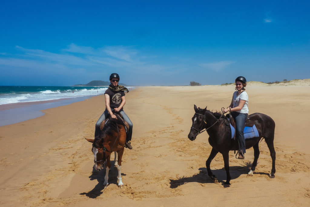Yummy Planet gone horseriding on the beach, South Africa