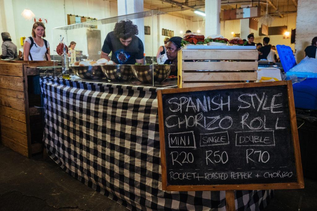 Spanish style chorizo roll, Market on Main, Johannesburg