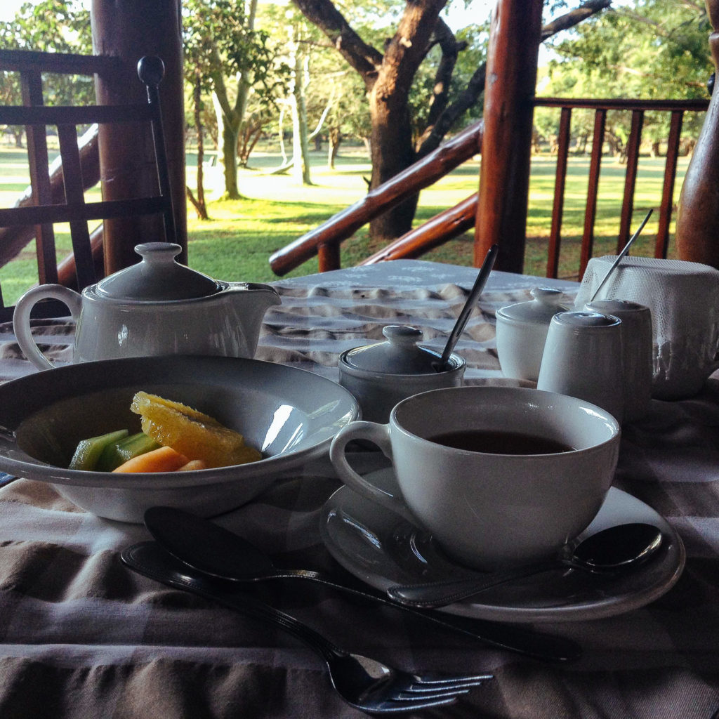 Breakfast at Falaza Game Park, South Africa