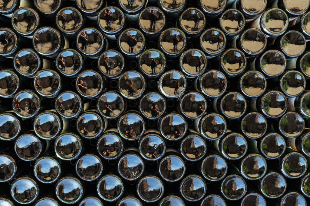 Bouteilles de vin entreposées, Cochem