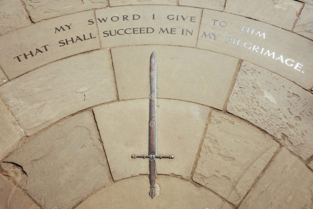 My sword I give to him that shall succeed me in my pilgrimage, C