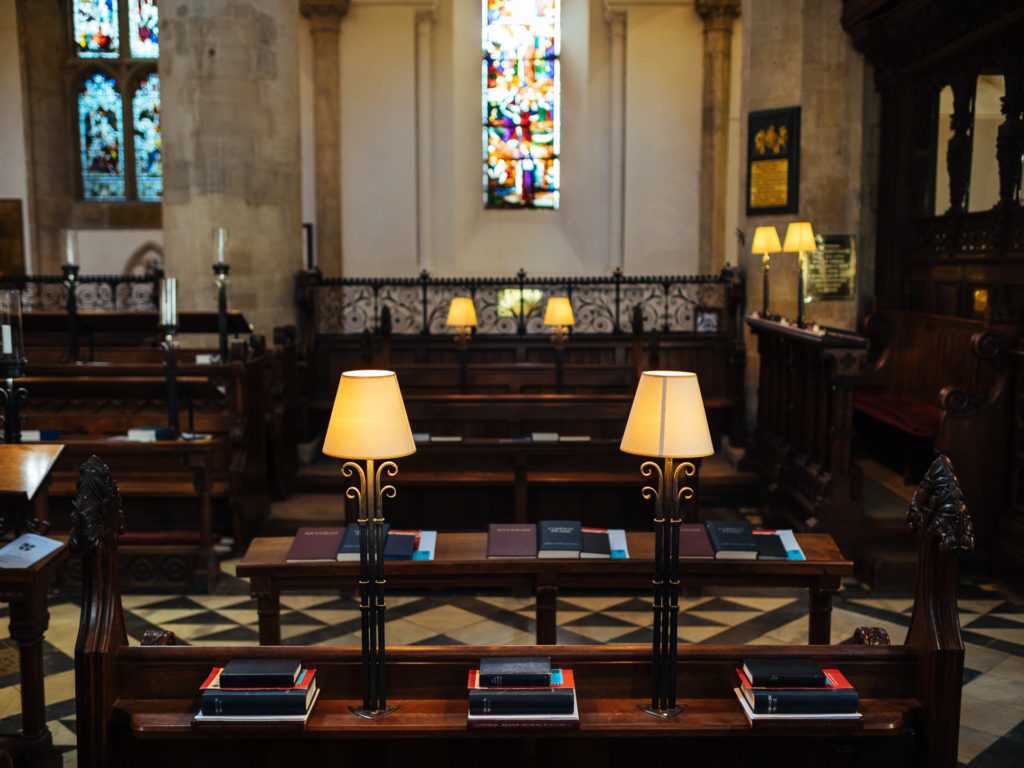 Desks in Christ Church, Oxford