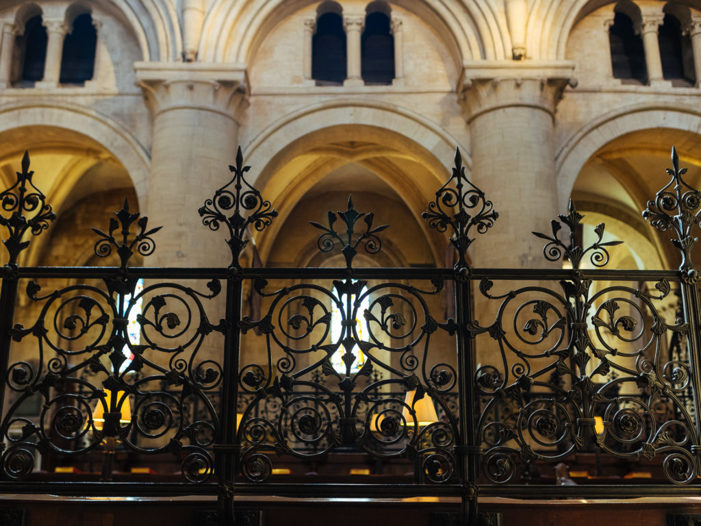 Desks' fence, Christ Church, Oxford