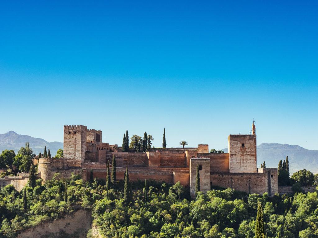 La Alhambra depuis le Mirador San Nicolás, Grenade