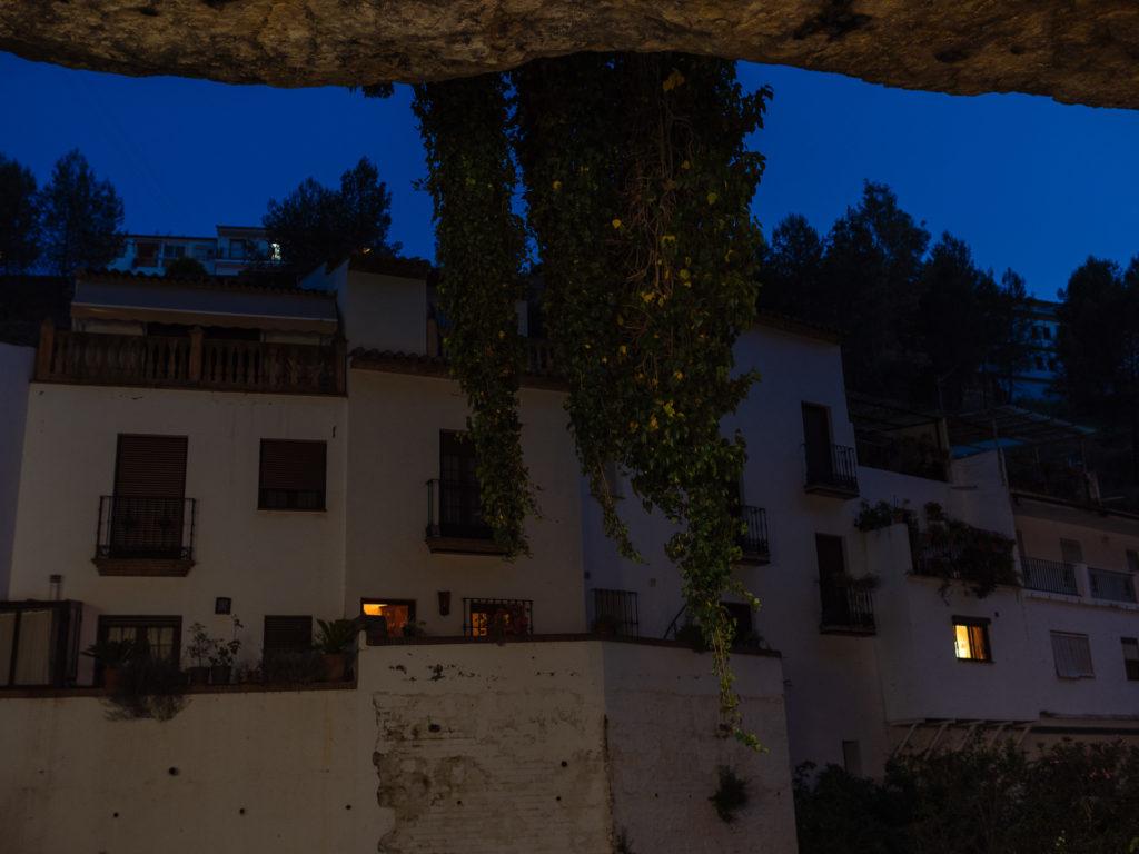 Calle Cuevas del Sol, Setenil de las Bodegas, la nuit