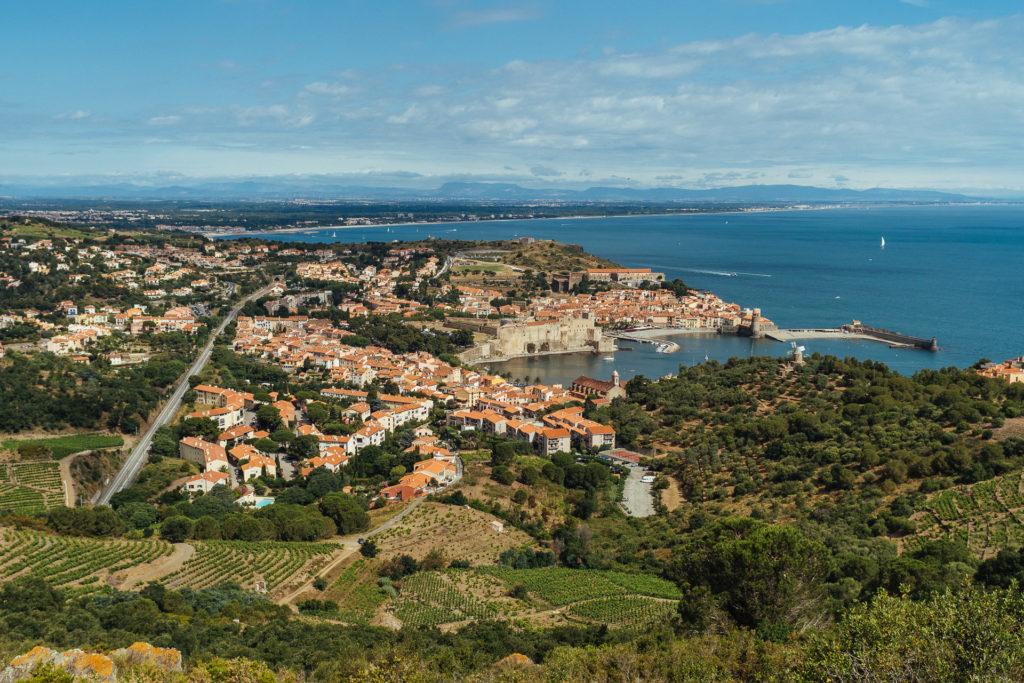 Collioure et ses alentours, depuis le Fort Sainte-Elme