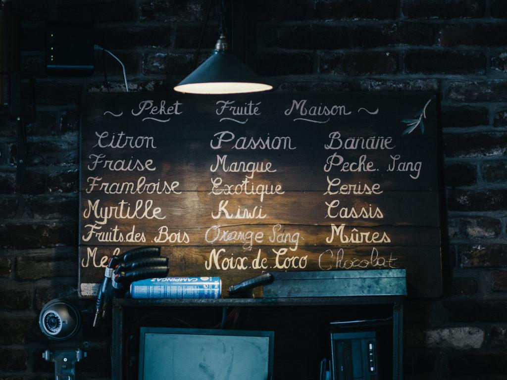 Liste des pekets fruités maison, Maison du Peket