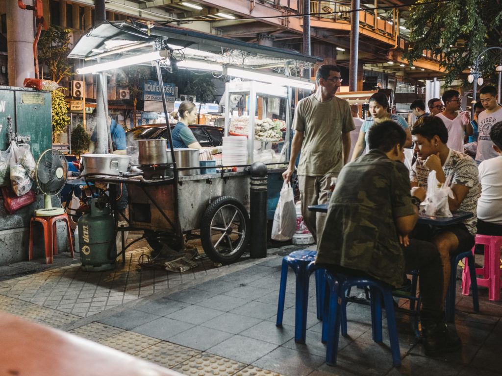 Eating street food in Bangkok