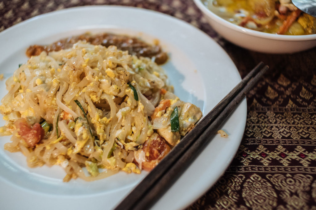 Noodles with peanut sauce by May Kaidee