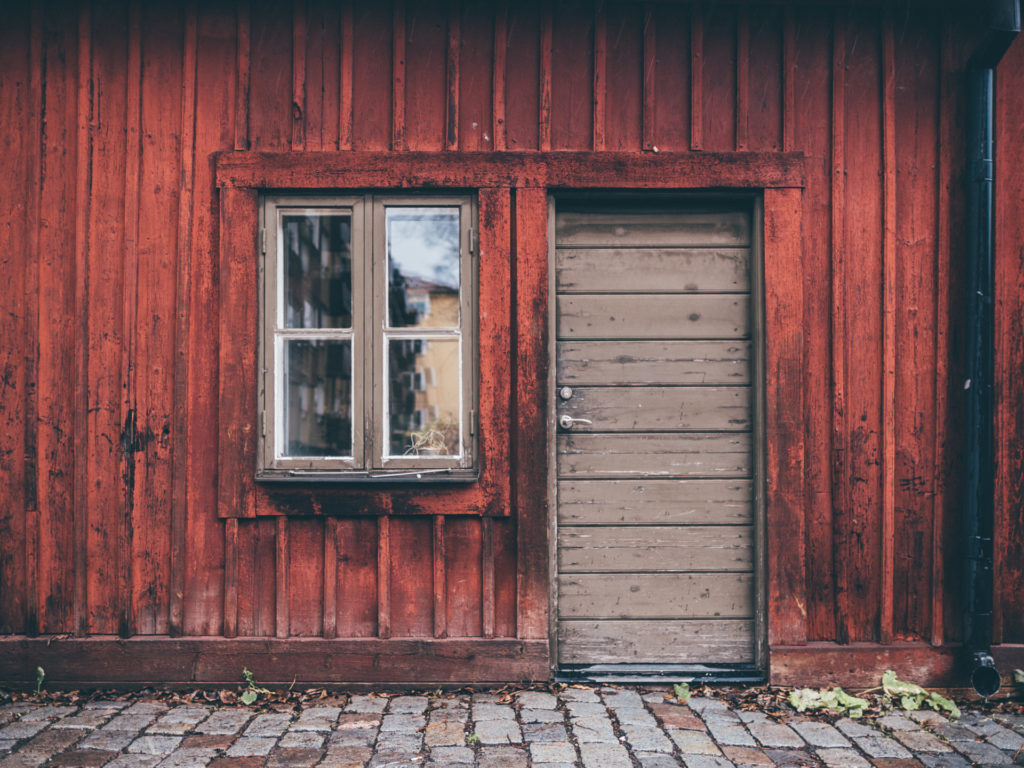 Red wooden house, Stockholm