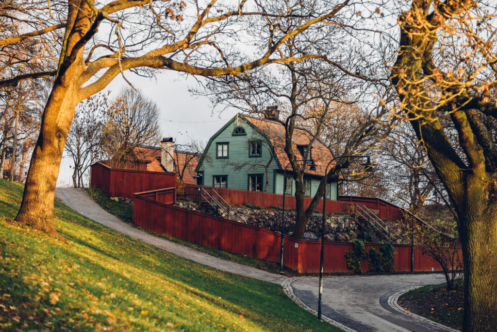 Green house and red fences, Stockholm