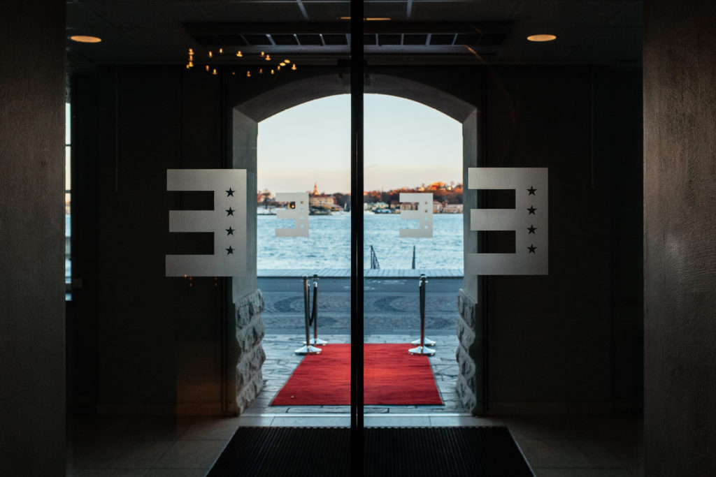 Entrance of the Elite Marina Tower, Stockholm